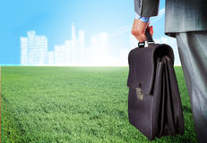 Man with suitcase Stock Images