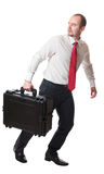 Man with suitcase Stock Photos