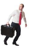 Man with suitcase Stock Photos