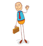 A man with suitcase Royalty Free Stock Image