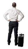Man with suitcase Stock Photo
