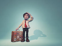 Man with a suitcase Stock Image