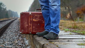 Man with a suitcase Royalty Free Stock Photo