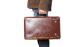Man with a suitcase Stock Images
