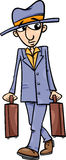 Man with suitcases cartoon illustration. Cartoon Illustration of Funny Man with Suitcases Stock Photo