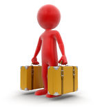 Man with Suitcases Stock Photos