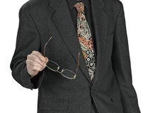 Man in suits with glasses Stock Photo