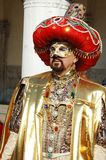 Man in Sultan costume at Venice carnival 2011 Stock Photo