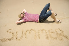 Man Of Summer Stock Photography