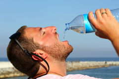 Man in the summer Stock Photography