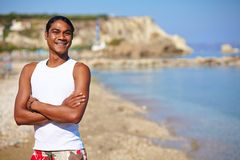 Man on summer vacation Royalty Free Stock Images