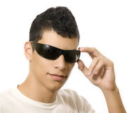 Man with sun glasses Royalty Free Stock Images