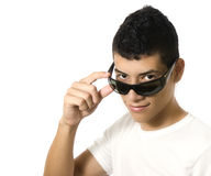 Man with sun glasses Stock Image
