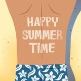 Man sunbathing happy summer time Stock Photos