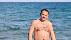 Man sunbathing Royalty Free Stock Images