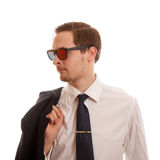 Man with sunglasees Stock Photos
