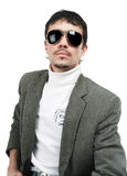 The man in sunglasse Stock Photos