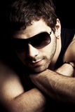 Man with sunglasses Royalty Free Stock Photo