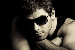 Man with sunglasses Stock Photo