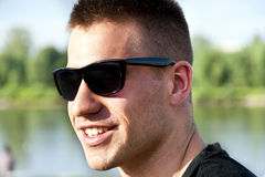 Man with sunglasses Stock Photography