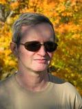 Man in sunglasses. Portrait of middleage man in sunglasses autumn Stock Photo