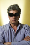 Man with sunglasses on inside out Royalty Free Stock Image