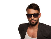 Man in sunglasses Stock Photography