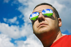 Man in sunglasses Sun Protection Stock Photography