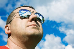 Man in sunglasses Sun Protection Stock Images