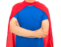 Man with super hero shirt Stock Image