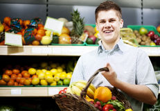 Man in supermarket Stock Image