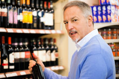Man choosing wine Stock Photography