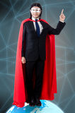 The man with superpowers ruling the world Stock Photos