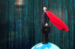 The man with superpowers ruling the world Stock Images