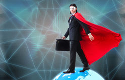 The man with superpowers ruling the world Royalty Free Stock Photos