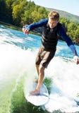 Man on Surfboard Stock Image