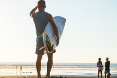 Man with surfboard Royalty Free Stock Image