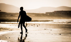 Man with surfboard Royalty Free Stock Photography