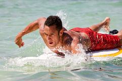 Man surfing Stock Photography