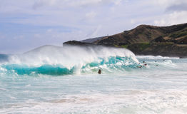 man surfing on the big wave Stock Photo