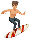 A man surfing Stock Photo