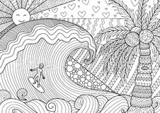 Free Man Surfing In Beautiful Ocean Stock Photo - 86284880