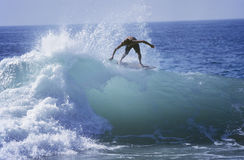 Man Surfing On Ocean Wave Stock Photos