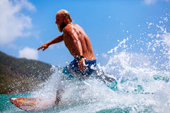 Man surfing wave Stock Images