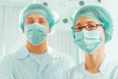 Man surgeon and nurse Royalty Free Stock Photo