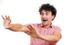Man surprised Stock Image