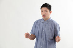 Man with surprised expression Stock Image