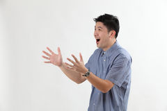 Man with surprised expression Royalty Free Stock Photography