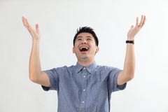 Man with surprised expression Royalty Free Stock Photo
