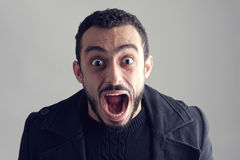 Man with a surprised facial expression Stock Photography